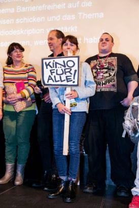 KLAPPE AUF! Kurzfilmfestival - Das Team auf der Bühne